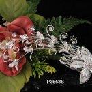 FLORAL silver bridal comb,wedding tiara alloy floral headpiece woman hair accessories regal 3653