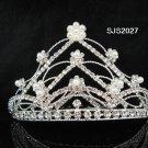 Handmade pearl silver daisy huge bridal comb,wedding tiara woman hair accessories 2027