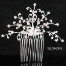 Handmade floral silver rhinestone alloy bridal comb,wedding woman hair accessories tiara SL939s