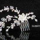Handmade floral silver alloy bridal comb,wedding bridesmaid hair accessories tiara SL947