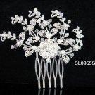 Handmade pearl floral silver alloy bridal comb,wedding woman hair accessories tiara SL955s