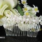 Handmade alloy floral silver wedding comb, bridal woman hair accessories tiara regal SL965s