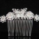 Handmade silver butterfly bridal comb,wedding woman hair accessories tiara regal SL967s