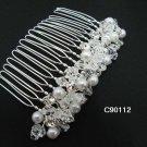 Handmade silver pearl alloy bridal comb,wedding woman hair accessories tiara 90112