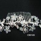 handmade silver alloy floral bridal comb,wedding woman hair accessories tiara regal 90185