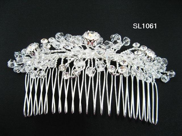Silver handmade floral bridal hair comb,wedding tiara alloy woman hair accessories SL1061