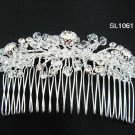 Silver handmade floral bridal hair comb,wedding tiara alloy woman hair accessories SL1061