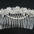 silver handmade rhinestone floral bridal comb,wedding tiara crystal woman hair accessories SL1173