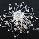 silver handmade alloy floral hair bridal comb,wedding tiara woman hair accessories 1207