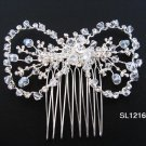 Bridal silver handmade sparkle hair comb,wedding tiara crystal hair accessories regal SL1216