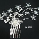 Bridal silver handmade alloy hair comb,wedding tiara floral hair accessories regal SL1387