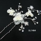 Bridal tiara silver handmade alloy floral hair comb,wedding hairpin hair accessories regal SL1484