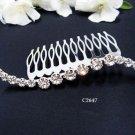 Bridal silver handmade simple hair comb,wedding tiara headpiece hair accessories regal 2647