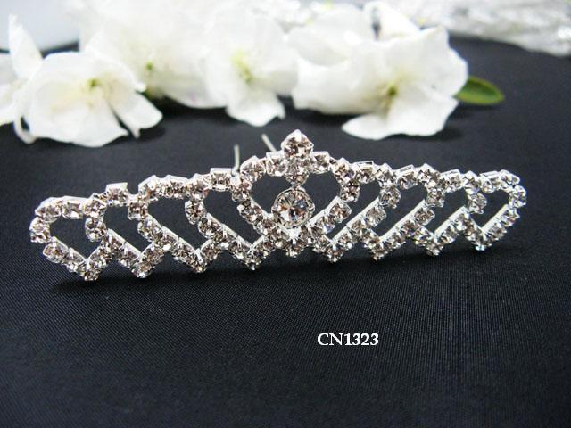 Bridal silver handmade sweetheart hair comb,wedding tiara headpiece hair accessories regal 1323