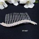 Bridal silver handmade small hair comb,wedding tiara headpiece hair accessories regal 4447