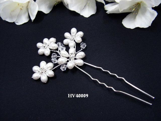 Bridal silver tiara handmade daisy pearl hair comb wedding hairpin headpiece hair accessories 4009