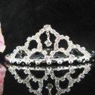 Silver Tiara Bridal Comb,Small Crystal Hair Comb Tiara style, Wedding hair Comb 8494