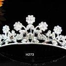 Tiara Bridal Comb, alloy silver Crystal Floral Hair Comb Tiara style, Wedding hair Comb h273