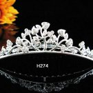 Silver bridal crystal comb,bridesmaid handmade hair accessories,wedding tiara regal h274