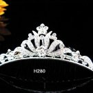 Handmade silver bridal crystal comb,bridesmaid hair accessories,wedding tiara regal h280
