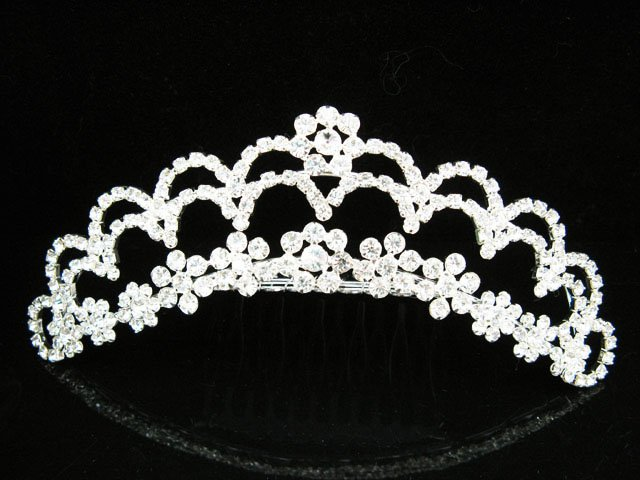 Tiara Bridal Comb, Pearl Crystal Floral Hair Comb Tiara style, Wedding hair Comb 1103