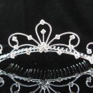 Silver Rhinestone Crystals Drop Clear Hair Comb Tiara For Wedding Bridal 4326