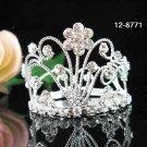 Clear Rhinstone Crystal Weddng Grace Bridal Prom Pageant Tiara Flower Crown8771