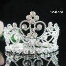 Silver crystal small crown bride bridal hair accessories bridesmaid wedding tiara8774