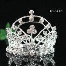 Silver bridal crystal small crown wedding bridal hair accessories,wedding tiara regal 8775