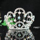 Silver bride bridal crystal small crown bridesmaid hair accessories,alloy tiara regal 6927