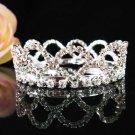 Handmade Silver bride  bridal crystal small crown, wedding hair accessories delicate tiara 2427