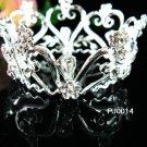 Silver crystal metal alloy small crown,bride bridal hair accessories tiara PJ14