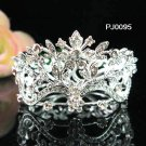 Silver bridal tiara ,crystal metal alloy small crown, wedding hair accessories, regal PJ095