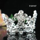 Silver handmade bride bridal tiara ,crystal alloy bridal small crown,wedding hair accessoriesPJ107
