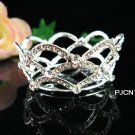 silver bride bridal tiara crystal alloy small crown,handmade wedding hair accessories Pcn112