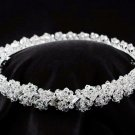 Silver bridal crown swarovski sparkle bugles crystal crown, bridal wedding hair accessories sjs1507