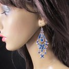 FANCY ROYAL DANGLER ALLOY BRIDAL EAR-DROP ACRYLIC HANDMADE HOOK EARRINGS SET E10RY