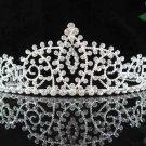 bride bridal headpiece wedding accessories hair silver sparkle crystal bridal tiara 115