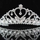 Swarovski handmade bridal headpiece wedding accessories silver sparkle crystal tiara pj144