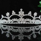 handmade bridal headpiece wedding accessories silver swarovski sparkle crystal tiara pj199