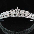 wedding woman hair accessories silver swarovski crystal bride bridal tiara pj417
