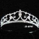 wedding tiara hair accessories silver crystal floral bridal tiara 8741S