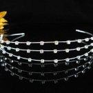 bridemaid regal wedding hair accessorie silver rhinestone crystal bridal tiara P947S
