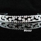 bride bridesmaid wedding hair accessories, rhinestone headband floral bridal crystal tiara 2492S