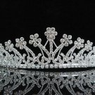 Bridal tiara wedding hair accessories silver rhinestone headband floral bridesmaid tiara 2581S