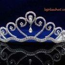 Crystal handmade wedding accessories silver metal rhinestone headpiece bridal tiara band 865