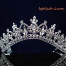 SWAROVSKI CRYSTAL handmade wedding accessories metal silver rhinestone sparkle bridal tiara 3524