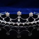 CRYSTAL handmade simple wedding accessories metal silver rhinestone sparkle bridal tiara 3652