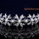 CRYSTAL handmade wedding accessories metal silver rhinestone sparkle headband bridal tiara 4346
