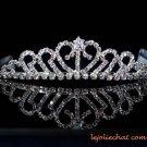 Bride bridesmaid tiara wedding silver sweetheart rhinestone band sparkle bridal tiara regal 7180